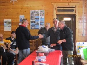 Il vincitore della seconda gara sociale di pesca